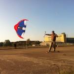 Andi von Flitzer am Streetkiten